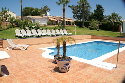 Private villa with its own swimming pool and sea view