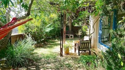Garden Veranda, facing west towards the sea