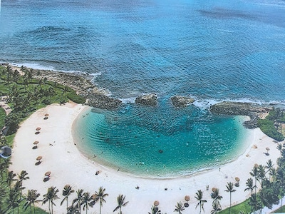 Great white sand beach steps from Villa