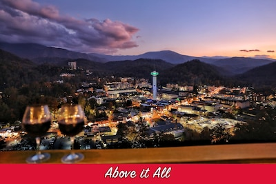 Unobstructed view of the city of Gatlinburg!