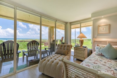 Expansive View of Beach and Ocean from Master Bedroom and Patio