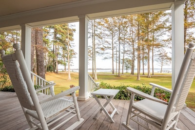 Front porch with riverfront view.