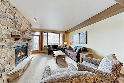 Living Room - Welcome to Frisco! This Timberline Cove condo is professionally managed by TurnKey Vacation Rentals.