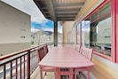 Outdoor Space - Pair dinner with a beautiful sunset at the balcony dining table.