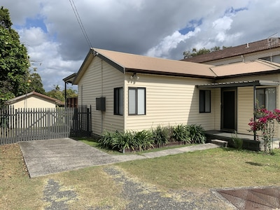 Off Street parking. Property is secured with fence and gate.