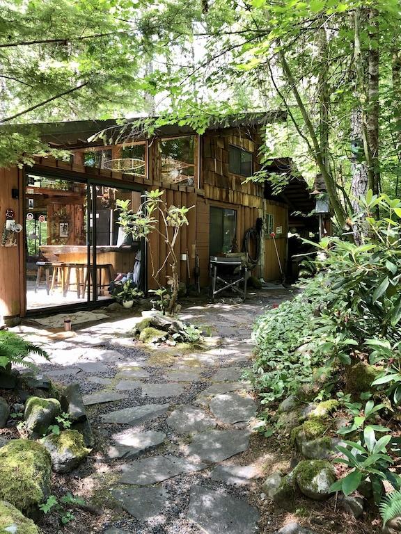 Real Log Cabin 1 Bedroom Loft Full Sz Appliances Wood Stove Clawfoot Tub Paradise Estates