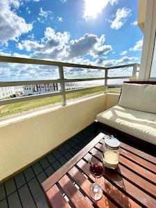 Meerblick Norderney Weststrand - Balkon