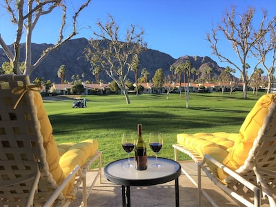 Best seat in the house to relax and enjoy the view while watching some golf!