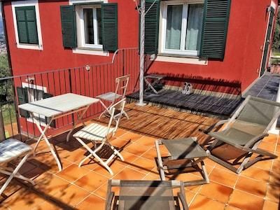 La terrazza dell'appartamento Limone