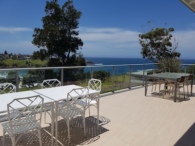 Sundeck overlooking Easts Beach, with seating for 12