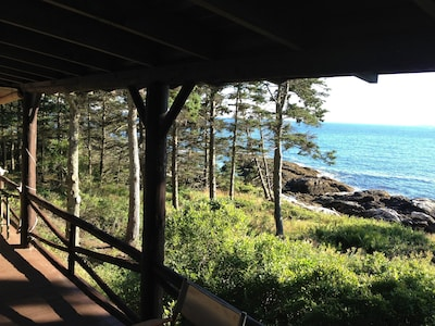 Spectacular view from the covered porch