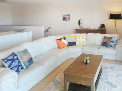 Large sofa which is super comfortable!
