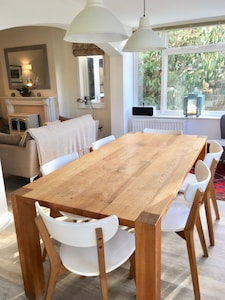 Light and sunny dining area