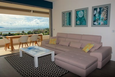 Re-arranged living room