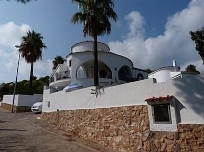 The villa on a quiet cul de sac