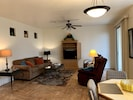 Larger view of open concept.  Picture taken from kitchen.
