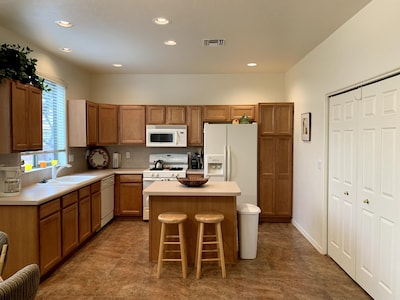 Bright and fun open concept allows for lots of company and entertaining.