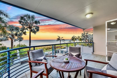 View of the sunset from the master bedroom's private balcony.