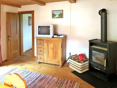 Zimmer, Major Appliance, Möbel, Holzofen, Fussboden, Eigentum, Hartholz, Wohnzimmer, Holzboden, Interior Design