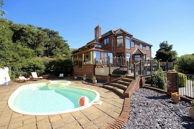 Large luxury private home, sleeps 12 with outdoor heated swimming pool & views!