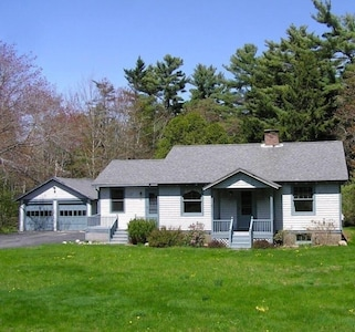 The Olson house with a beautiful large half acre lot.