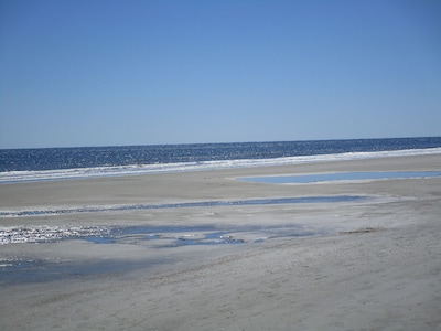 Our beautiful beach - one of the least crowded on island!