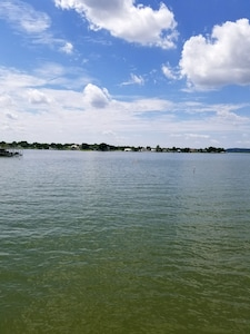 Lake view from beach area