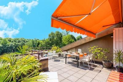 Appartamento sul Lago moderno con Piscina e Tennis