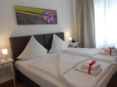 neues modernes Appartement in Saarbrücken-Bübingen mit großer Süd/West Terasse