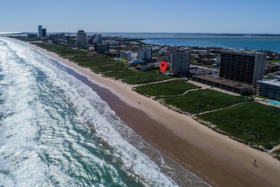 Prime beach front building location with private beach access