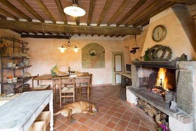 Boveglio, Villa Bascilica, Toskana, Italien