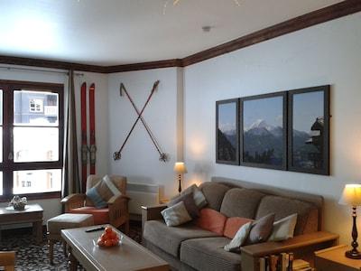 Arc1950 Resort 5 étoiles Grand Appartement Tranquille 1 Lit pour 4 Personnes Ski-in Ski-out