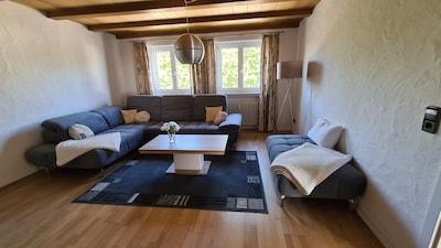 Maisonette Apartment, 127qm, 3 Schlafzimmer, max. 6 Personen-Wohnzimmer