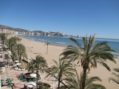 Aptos GEMA - Estudio recien reformado 1ra linea de Cullera con vistas a la playa