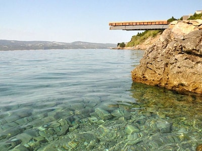 Artina-strand, Omis, Split-Dalmatië, Kroatië
