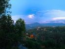 Springtime View of Smokies From Deck at Dusk