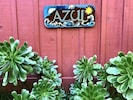 Handcrafted sign for Azul Cottage