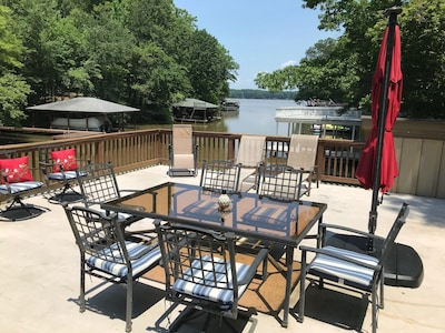 Sun deck with view of main lake