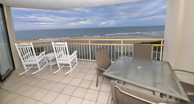 Direct Ocean Front Breathe Taking Views on Extra Large Balcony Fully Furnished.