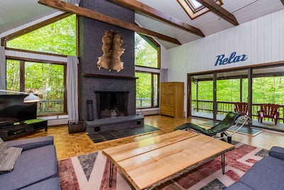 Quintessential ski house vibe with a modern flair