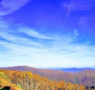 Mountain views from  the condo in FALL!