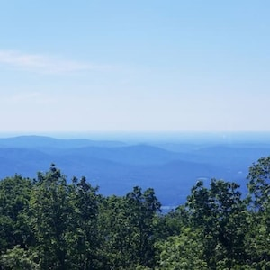 One of the best views of the Blue Ridge mountains at Wintergreen Resort