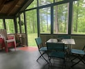 Covered porch with seating