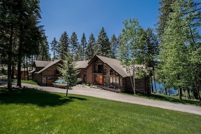 Perched on a hillside surrounded by beautiful pine trees this is a serene escape