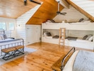 The coziest loft with lots of beds! Sleeps 8 up here!