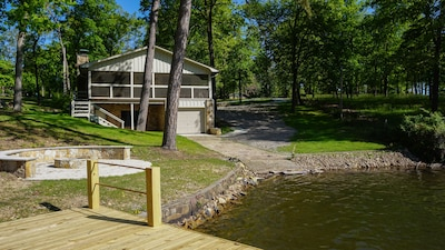 Swim dock, fire pit and water access