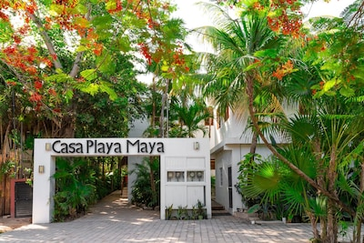 Casa Playa Maya welcomes you.  Picture yourself here and off to the beach!