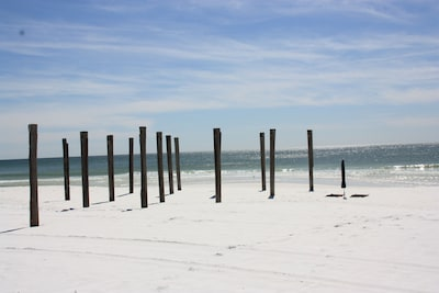 The Old Destin Pier - directly in front.