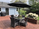 Backyard Patio with BBQ and patio set