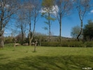 The private lawn at the back of the house